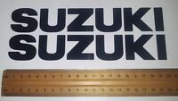 Suzuki tank sticker / decal pair. size 203mm x 30mm Black