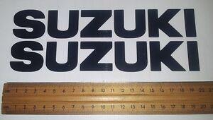 Suzuki tank sticker / decal pair. size 203mm x 30mm Black or choose a colour