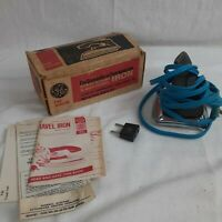 Vintage GE Iron Domestic & Overseas Use in Original Box F49 9480-312 Works!