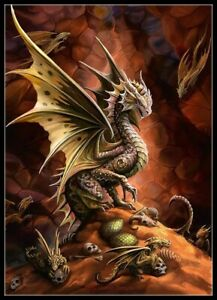 Dragon of the Desert - DIY Counted Cross Stitch Patterns Needlework Embroidery