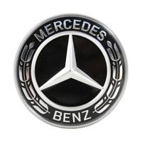 Original Mercedes-Benz Motorhaube Ersatz Stern Emblem Schwarz R-Klasse S-Klasse