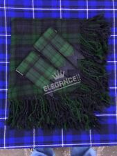 "Kilt Fly Plaid Black Watch Tartan 48""X48""/Fly Plaid Black Watch + Kilt Flashes"