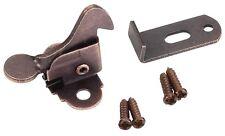 Elbow Latch  Cabinet Door- Window Catch Dark Brushed Antique Copper with screws