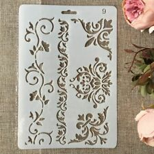 Floral Frame Edge DIY Layering Stencils Painting Scrapbooking Stamping Embossing
