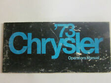 1973 Original CHRYSLER CAR Owners Manual 2ND  Edition#81-070-3170 73