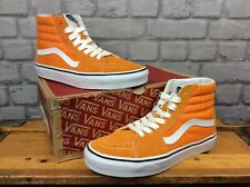 VANS LADIES UK 6 EU 39 ORANGE SUEDE CANVAS SK8 HI TRAINERS LG