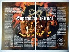 COUPURE DE PRESSE-CLIPPING :  SUPERJOINT RITUAL [2pages] 07/2002 Jimmy Bower