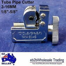 "Genuine Tube Pipe roller Bearing Cutter 3-16 mm 1/8- 5/8"" Steel Blade  MINI SCRE"