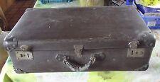 Ancienne Valise Coffret Fibre Vulcaniser 1940 Vintage 65 x 38 x 20 cm sans clé