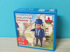 """PLAYMOBIL 6105 spécial personnage Zirndorfer gendarme """"Bolli"""" avec boutons Capot Nouveau neuf dans sa boîte"""