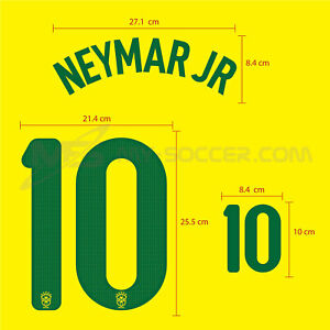 NEYMAR JR #10 Brazil Home Confederation CUP 2013 SOCCER FOOTBALL PRINT