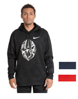 NWT$55 Nike Therma-Fit Football Men's Hoodie Black Blue Red All Size Big Tall