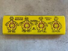 VTG 50s Sterling DIAL-A-MATIC ADDING MACHINE PENCIL BOX w/ Instructions