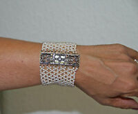 JOY512 BRACELET ART DECÓ. OR 18 K, DIAMANTS ET PERLES. ESPAGNE. 20's