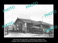 OLD HISTORIC PHOTO OF MT LAWLEY WEST AUSTRALIA, SHELL OIL Co PETROL STATION 1930
