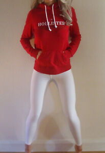 New with Tags Hollister This Season Fitted Logo Hoodie Hoody XS UK 6 8