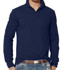 Camisetas de hombre de manga larga de color principal azul talla L