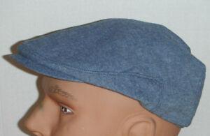 STETSON cotton blend driving Cap hat lt blue XL