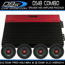 "4 DS18 PRO-X6.4BM 6.5"" Car Audio Midrange Speaker 1 SLC-X1850.4 Stereo Amplifier"