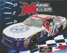 2018 Vinnie Miller JAS Trucking 1st issued Chevy Camaro NASCAR Xfinity postcard