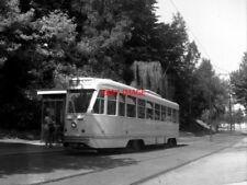 PHOTO  BELGIUM TRAMS 1959 BRUXELLES GROS TILLEUL SNCV PCC TRAM NO 7136 ON ROUTE