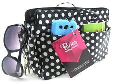 Periea handbag organiser, tidy, organizer,insert black+white polka dots - Lexy