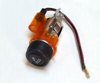 Kit Accendisigari illuminato Arancione 12v per Tutte le Macchine Universale 29mm