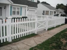 PVC Picket Fencing Fence 2.44m section NO STAINING & PAINTING! BEST PRICE!!