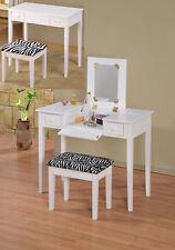 Brand New Contemporary Designed WOOD Vanity Set With FLIP Mirror -WHITE- ASDI
