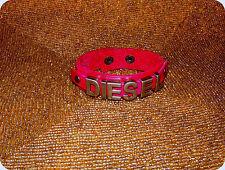 "NWOT- ""DIESEL"" Leather BRACELET-2 snap-SZ. 7 1/2"" - 8 1/2"" Long-RED-  (#46)"