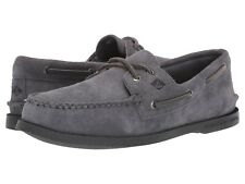 Men's Sperry Top-Sider A/O Two-Eye Suede Boat Shoe, STS19438 Multiple Sizes Grey