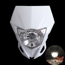 Supermoto Dirt Bike Motocross White  Head Lamp Headlight For Yamaha WR250F YZ250