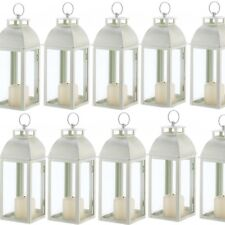 "Lot 15 Ivory Lantern 12.5"" Weathered Finish Candleholder Wedding Centerpieces"