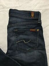 7 Seven For All Mankind Roxanne Skinny Jeans Tag Size 26 Dark Wash Distressed