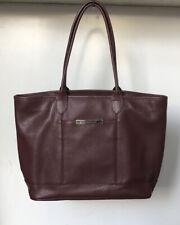 LONGCHAMP Le Foulonne veau leather burgundy red tote bag