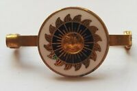 Vintage Sun Face Enamel Pin Badge