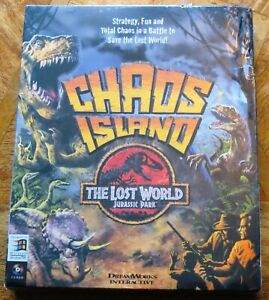 Jurassic Park The Lost World Chaos Island (PC CD-ROM) Big Box *Factory Sealed*