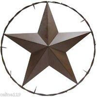 "25"" Brown Metal TEXAS Barn STAR Home Wall Outdoor Decor Western"