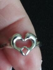 STERLING SILVER 925 Kissing DOLPHINS Ring ~Sz 5