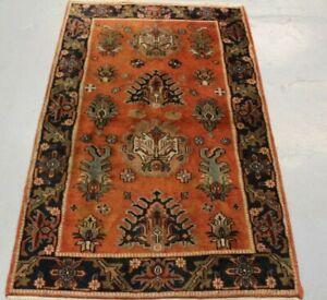 old Handmade oriental wool Turkish Rug 150cm x 94cm