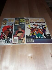 NEW KIDS ON THE BLOCK COMICS LOT OF 3 - HARVEY ROCKOMICS 1991 F-VF POP BOY BANDS