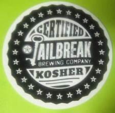 JAILBREAK BREWING COMPANY, CERTIFIED KOSHER 3 1/2'' STICKER, Laurel, MARYLAND