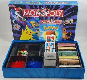 Pokemon Pokémon Monopoly Collectors Edition Complete 1999 Hasbro Waddingtons