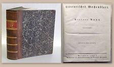 Kotzebue Literarisches Wochenblatt 4.& 5. Band 1819 Erstausgabe Belletristik xz