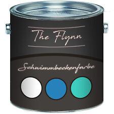 The Flynn Schwimmbeckenfarbe Weiß Grün Blau Poolfarbe für Fischteich FARBAUSWAHL