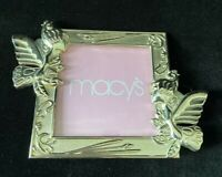 Macy's Silverplated Flower Fairy Sprite Pixie Picture Frame
