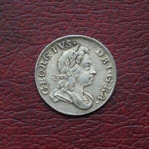 George I 1723 silver threepence