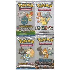 POKEMON 4 différent prélèvement packs 3 cartes par paquet Evolutions Fates Break