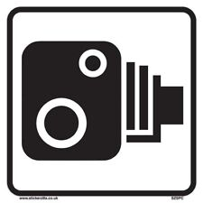 Speed Camera Sign [5 X Pack - 200mm W x 200mm H White Background ] Ideal For ...