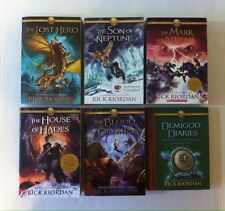 Lot 5 Heroes of Olympus Series 1 2 3 4 5 (PB) +Bonus Rick Riordan Lost Hero